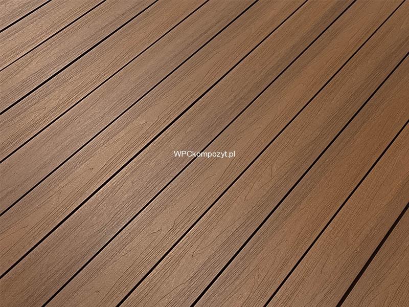Deska Tarasowa Ii Generacji Premium Wpc 138x22mm 1mb Kolor Teak Kompozyt Drewna Uh07 H2